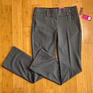 NWT Candie's Marilyn Bootcut City Fit Pants grey 7
